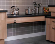 Rise and Fall, adjustable hieght worktops